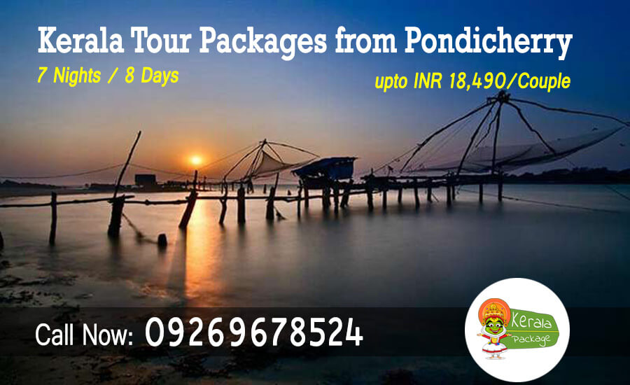 Kerala tour packages from Pondicherry