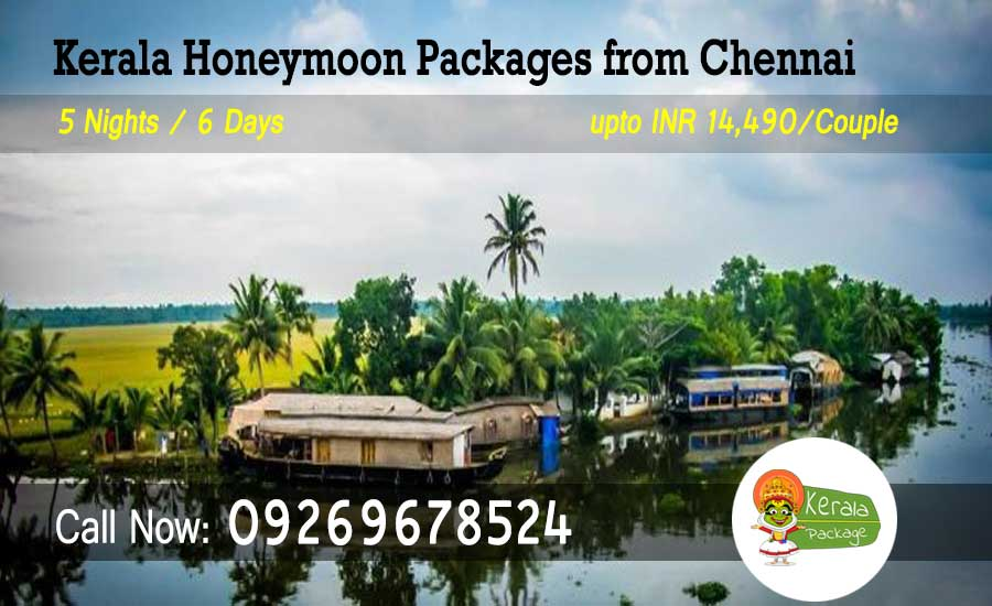 Kerala Honeymoon Packages from Chennai by flight