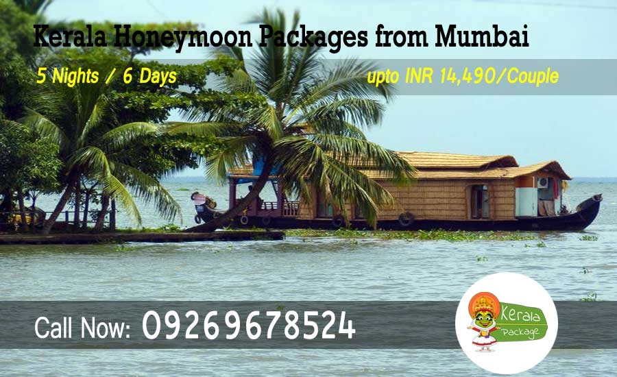 Kerala honeymoon packages from Mumbai by flight