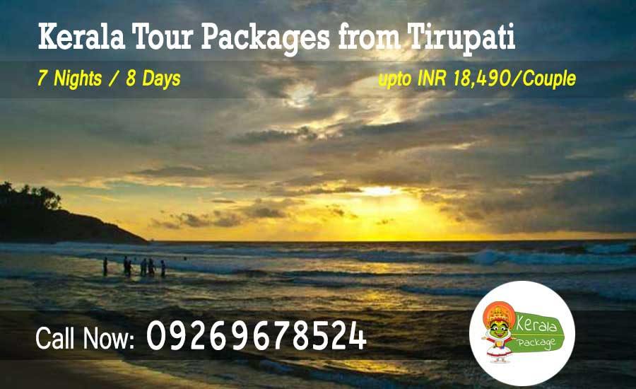 Kerala tour packages from Tirupati