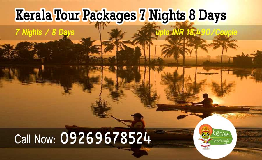 7 nights 8 days Kerala tour package