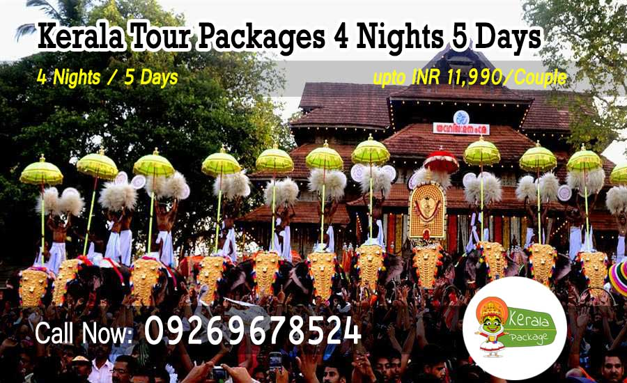 4 nights 5 days Kerala tour packages