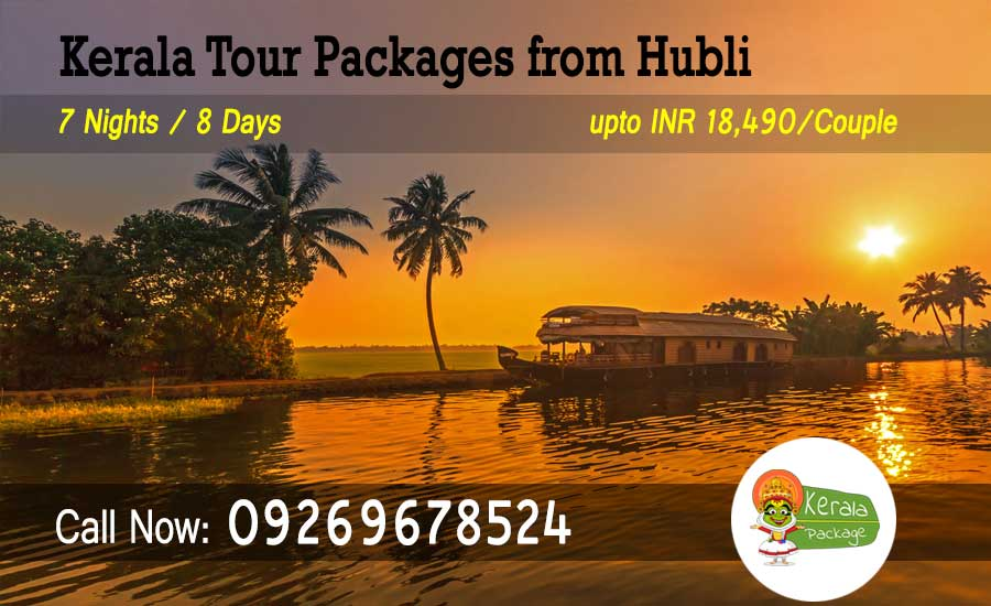 Kerala tour packages from Hubli
