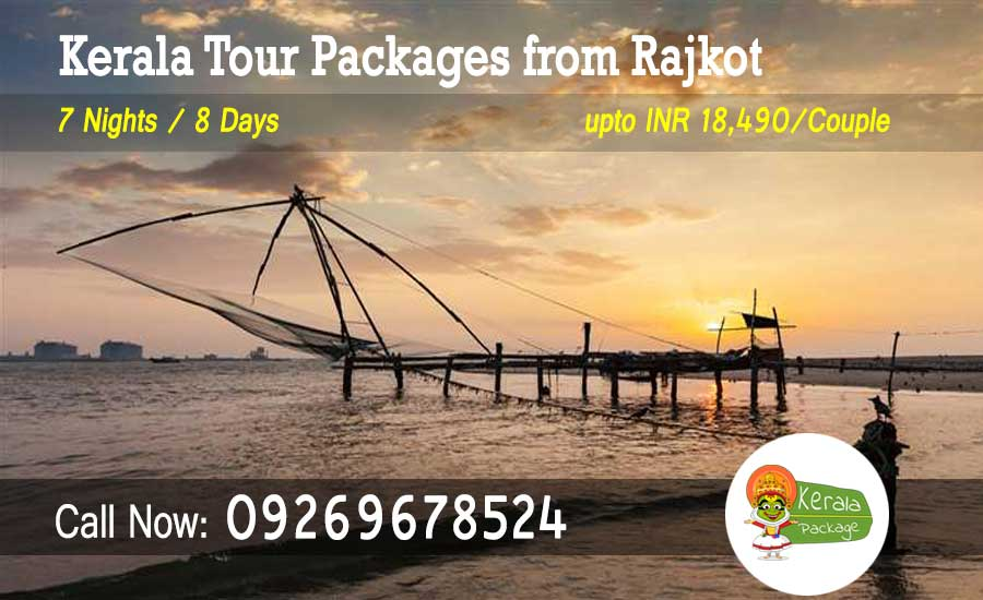 Kerala tour packages from Rajkot