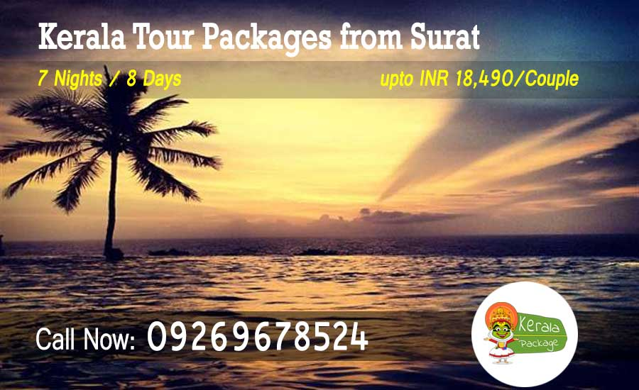 Kerala tour packages from Surat