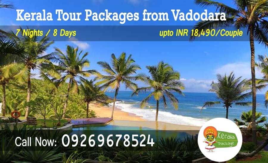 Kerala tour packages from Vadodara