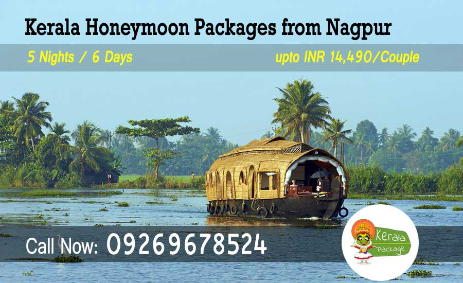 Kerala Honeymoon Packages from Nagpur