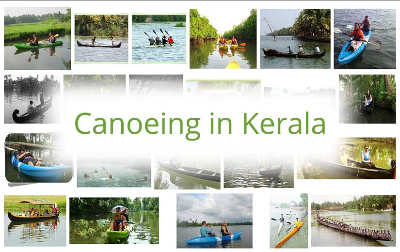 Canoeing in Kerala