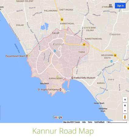 Kannur Google Map
