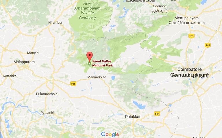 silent valley national park google map