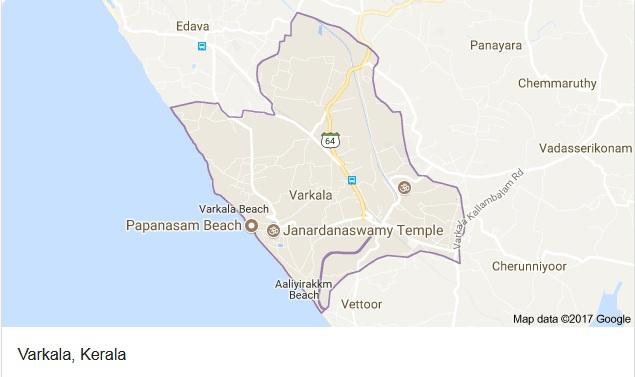 Varkala Google Map