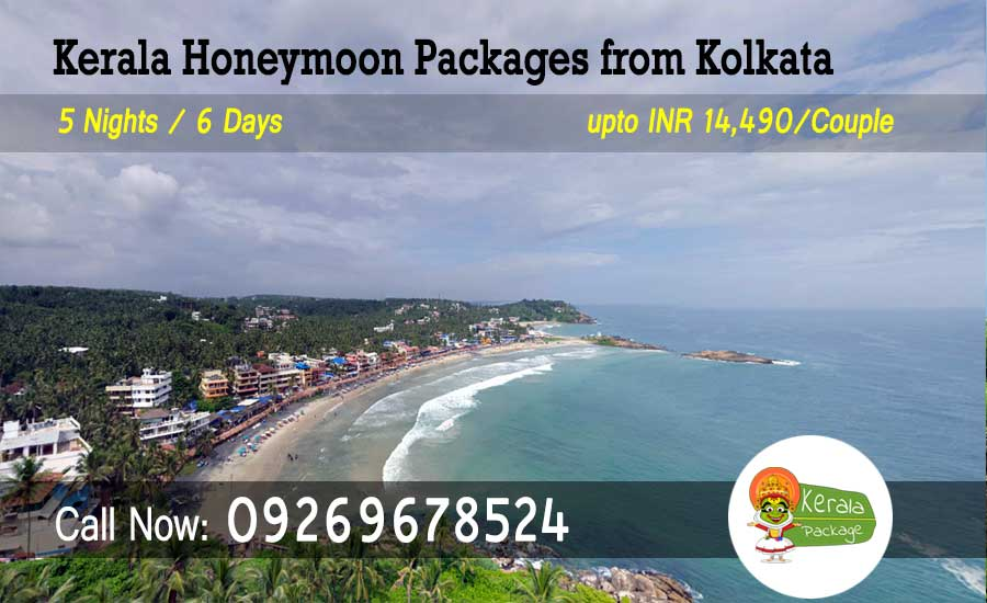 Kerala honeymoon packages from Kolkata by flight