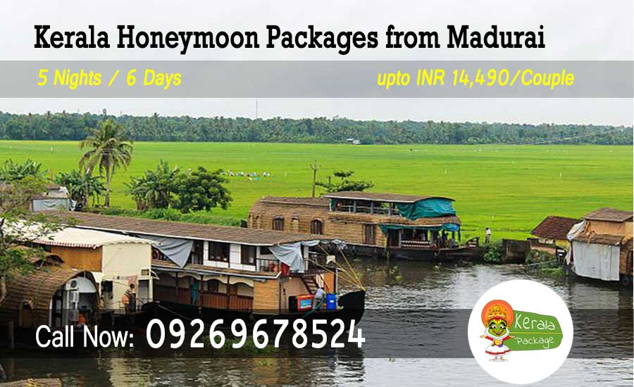 Kerala honeymoon packages from Madurai