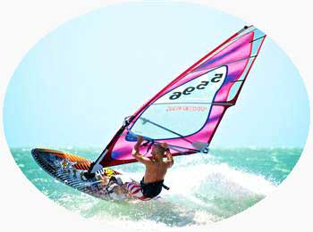 Wind surfing in Kerala India
